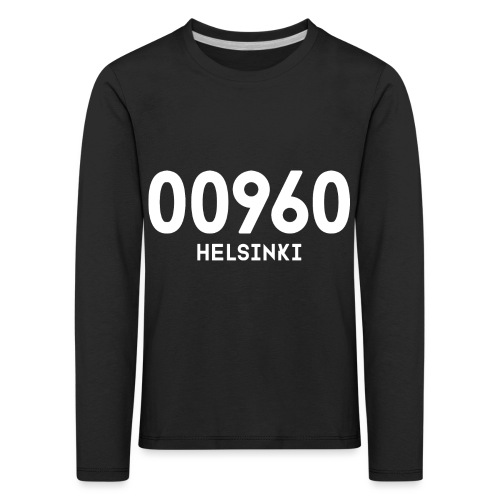 00960 HELSINKI - Lasten premium pitkähihainen t-paita