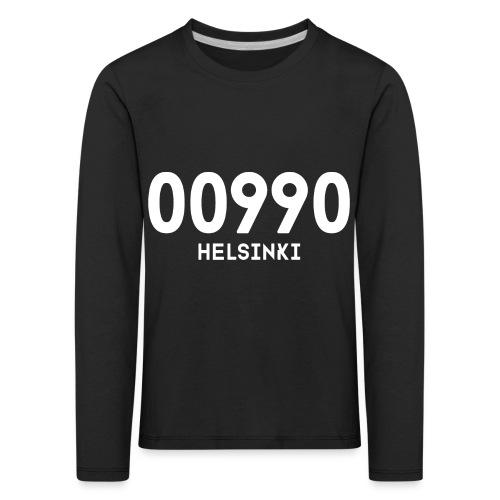 00990 HELSINKI - Lasten premium pitkähihainen t-paita
