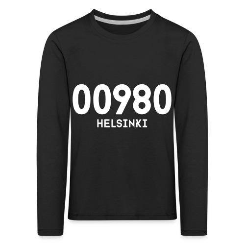 00980 HELSINKI - Lasten premium pitkähihainen t-paita
