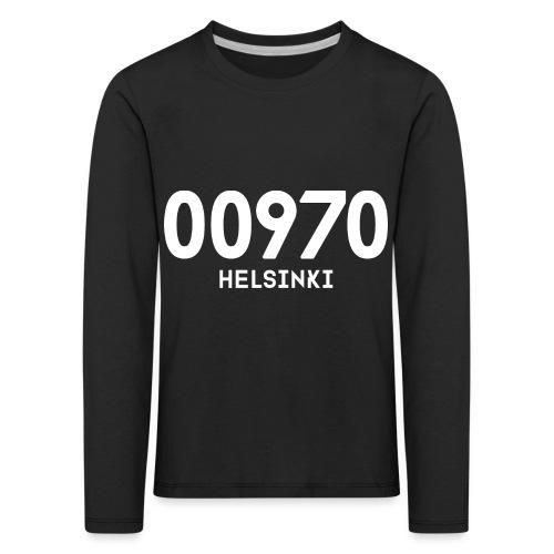 00970 HELSINKI - Lasten premium pitkähihainen t-paita
