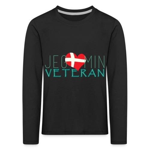 Jeg Elsker Min Veteran - Børne premium T-shirt med lange ærmer