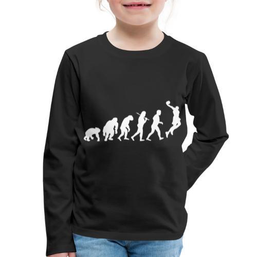 Basketball Evolution - Kinder Premium Langarmshirt