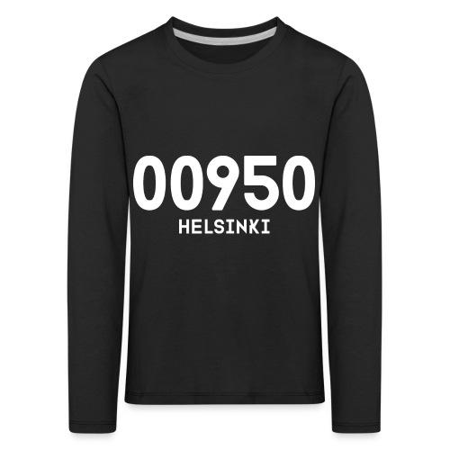00950 HELSINKI - Lasten premium pitkähihainen t-paita