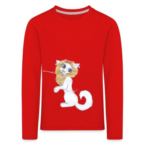 Comic Katze - Kinder Premium Langarmshirt