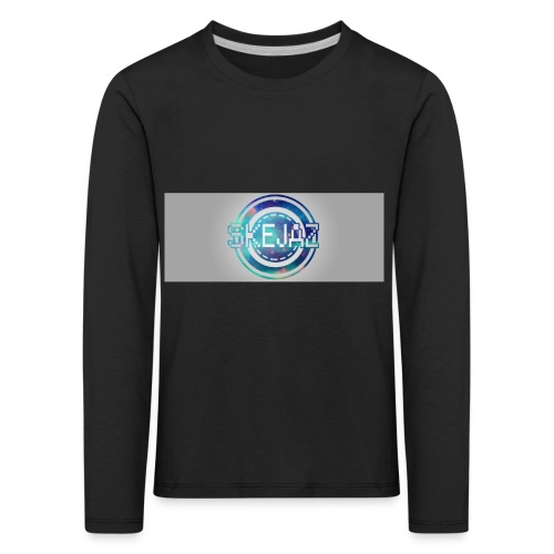 LOGO WITH BACKGROUND - Kids' Premium Longsleeve Shirt