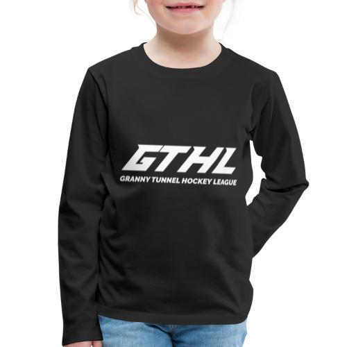 GTHL White - Lasten premium pitkähihainen t-paita