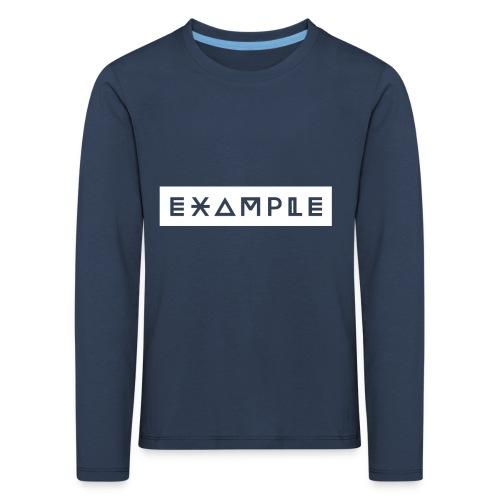 EXAMPLE CLOTHING - Maglietta Premium a manica lunga per bambini