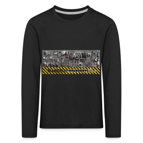 #MarchOfRobots ! LineUp Nr 1 - Børne premium T-shirt med lange ærmer