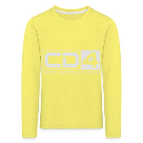 cd4 logo dikker kader bold font - Kinderen Premium shirt met lange mouwen