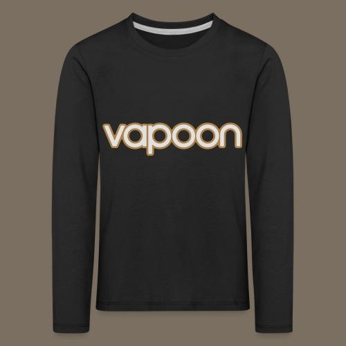 Vapoon Logo simpel 2 Farb - Kinder Premium Langarmshirt