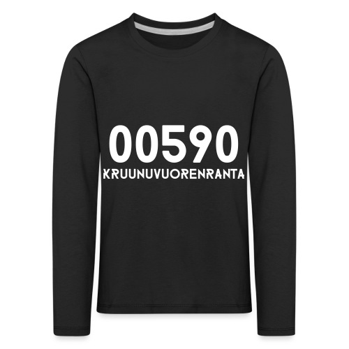 00590 KRUUNUVUORENRANTA - Lasten premium pitkähihainen t-paita