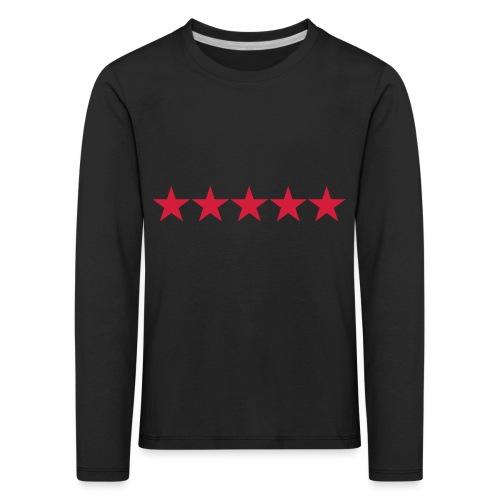 Rating stars - Lasten premium pitkähihainen t-paita