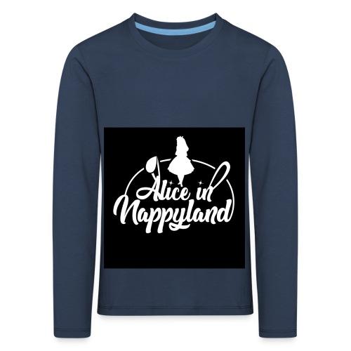 Alice in Nappyland TypographyWhite 1080 - Kids' Premium Longsleeve Shirt