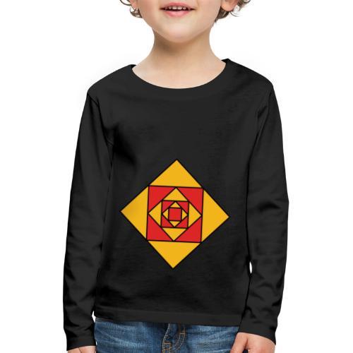 Prismes carrés - T-shirt manches longues Premium Enfant