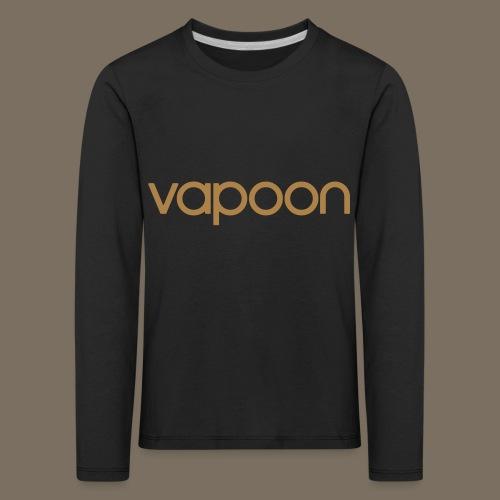 Vapoon Logo simpel 01 - Kinder Premium Langarmshirt