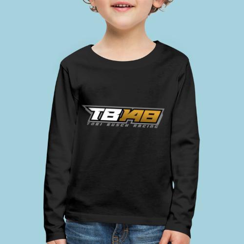 Tobi Logo Grau - Kinder Premium Langarmshirt