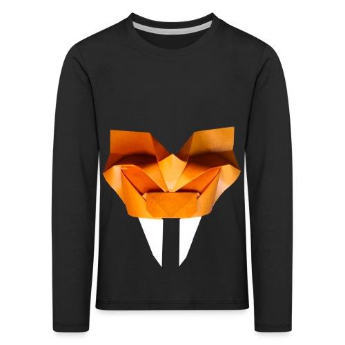 Origami Saber Toothed Tiger Mask - Origami Tiger - Kids' Premium Longsleeve Shirt
