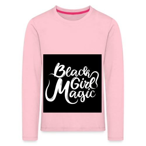 Black Girl Magic 1 White Text - Kids' Premium Longsleeve Shirt