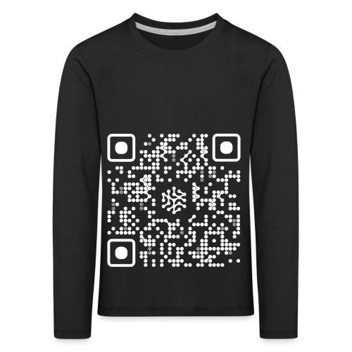 QR Safenetforum White - Kids' Premium Longsleeve Shirt