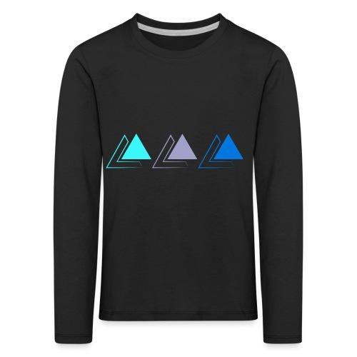 triple pyramide - T-shirt manches longues Premium Enfant