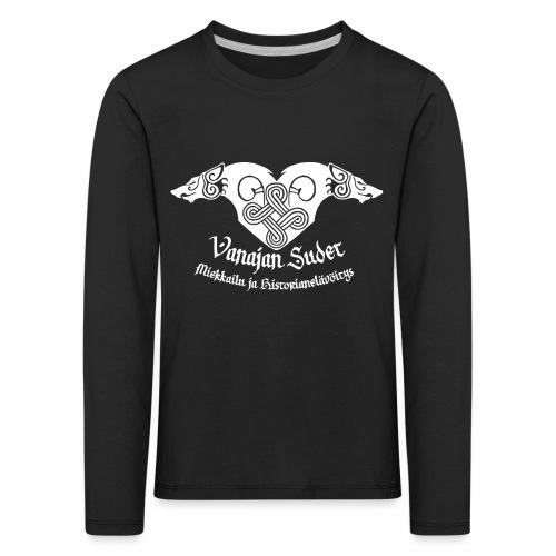 Vanajan Sudet Logo (valkoinen) - Lasten premium pitkähihainen t-paita