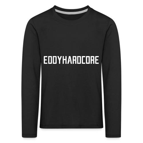 EddyHardcore logo nek transparant png - Kinderen Premium shirt met lange mouwen