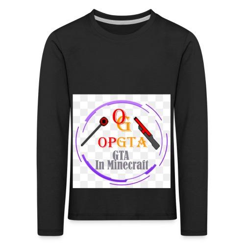 opgta logo - Lasten premium pitkähihainen t-paita