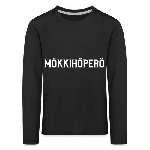 mokkihopero - Lasten premium pitkähihainen t-paita