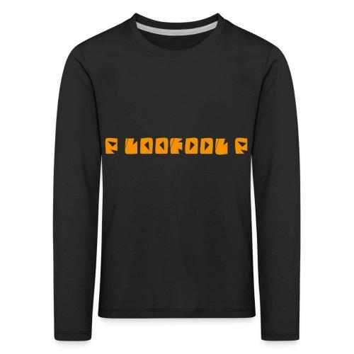 P loofool P - Orange logo - Premium langermet T-skjorte for barn