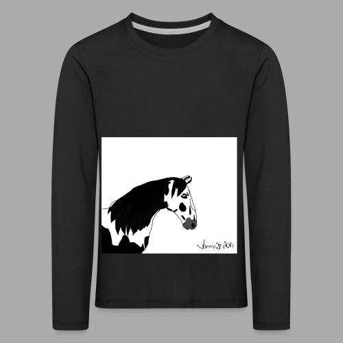 Pferdekopf mit Unterschrift - Kinder Premium Langarmshirt