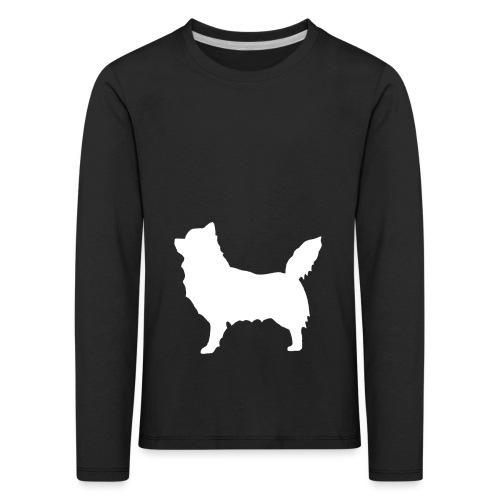 Chihuahua pitkakarva valkoinen - Lasten premium pitkähihainen t-paita