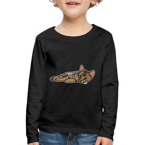 Bengalkatze, Bengal, Katze, Leopardkatze, Comic - Kinder Premium Langarmshirt