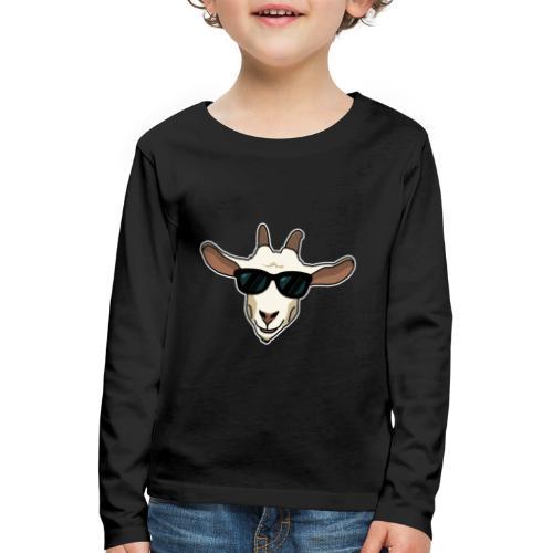 Ziege, Sonnenbrille, Tier, lustig, Geschenkidee - Kinder Premium Langarmshirt