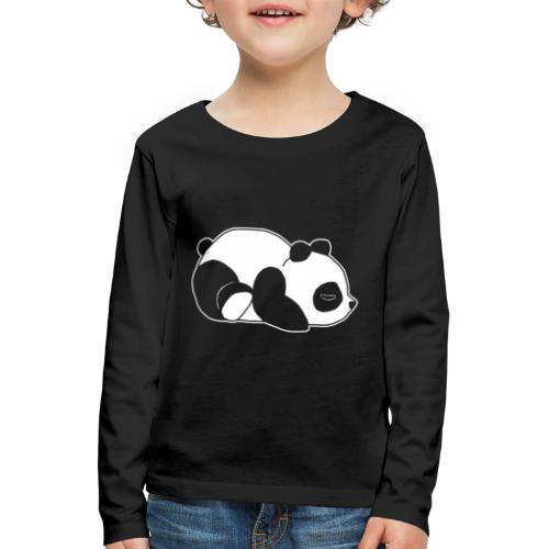 Panda, süß, Tier, Comic - Kinder Premium Langarmshirt
