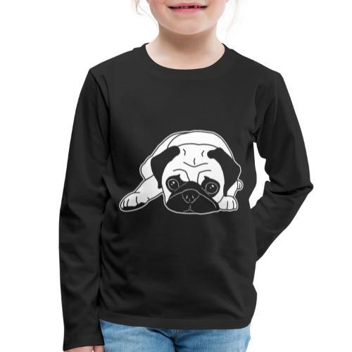 Mops, Hund, Hunderasse, Geschenkidee, süß, Comic - Kinder Premium Langarmshirt
