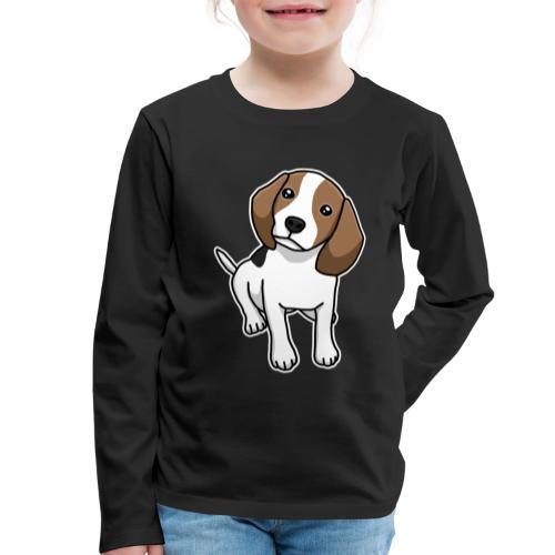 Beagle, Hund, Hunderasse, Comic, Geschenkidee - Kinder Premium Langarmshirt