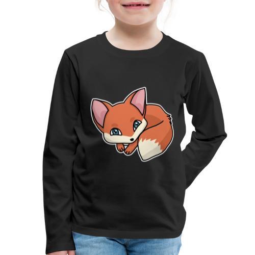 Fuchs, Fuchswelpe, Rotfuchs, Comic, süß - Kinder Premium Langarmshirt