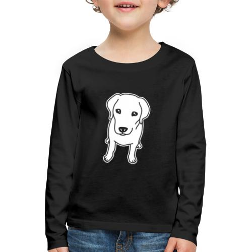 Labrador Retriever, Hund, Comic - Kinder Premium Langarmshirt