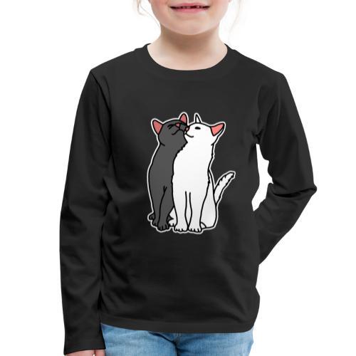 Katzen, kuscheln, süß, Comic, Geschenkidee - Kinder Premium Langarmshirt
