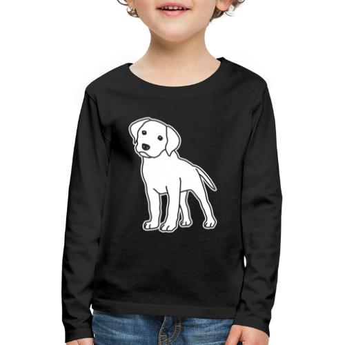 Labrador, Retriever, Hund, Comic, Welpe, süß - Kinder Premium Langarmshirt