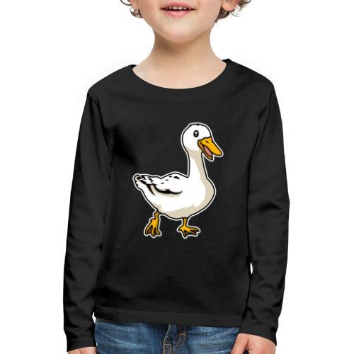 Ente, süß, Tier, Zeichnung, Comic - Kinder Premium Langarmshirt