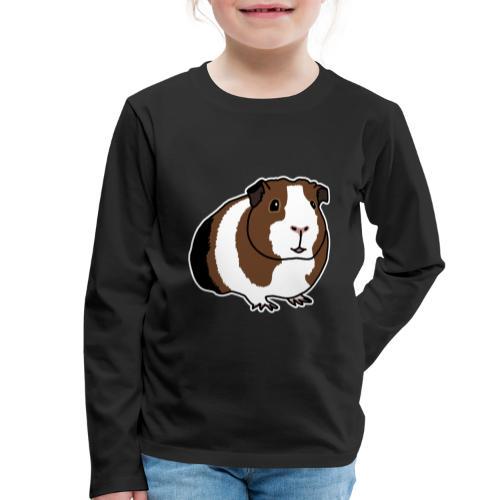 Meerschweinchen, süß, Nagetier, Kleintier, Comic - Kinder Premium Langarmshirt