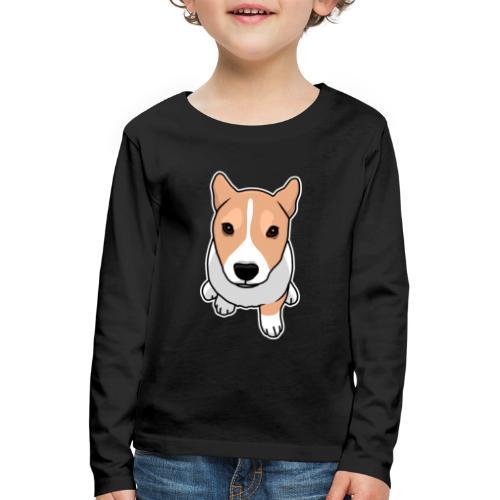 Corgi, Hund, Welsh Corgi Pembroke, Comic, süß - Kinder Premium Langarmshirt