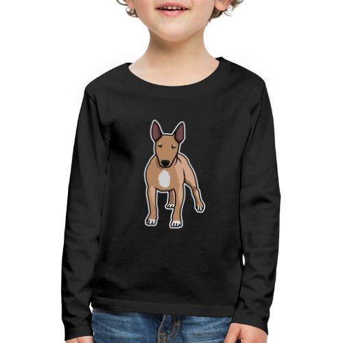 Bullterrier, Hund, Comic - Kinder Premium Langarmshirt