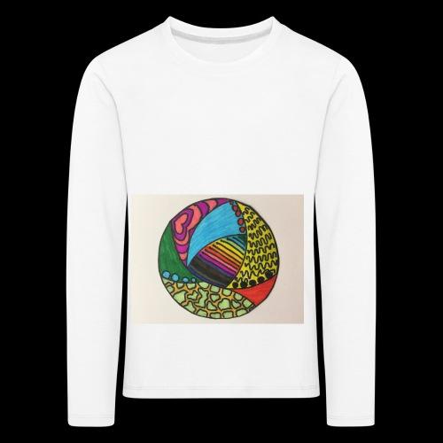 circle corlor - Børne premium T-shirt med lange ærmer