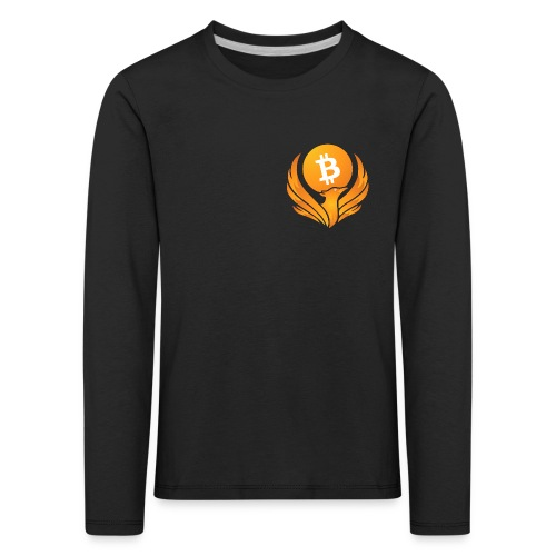 BITCOIN FENIKS - Koszulka dziecięca Premium z długim rękawem