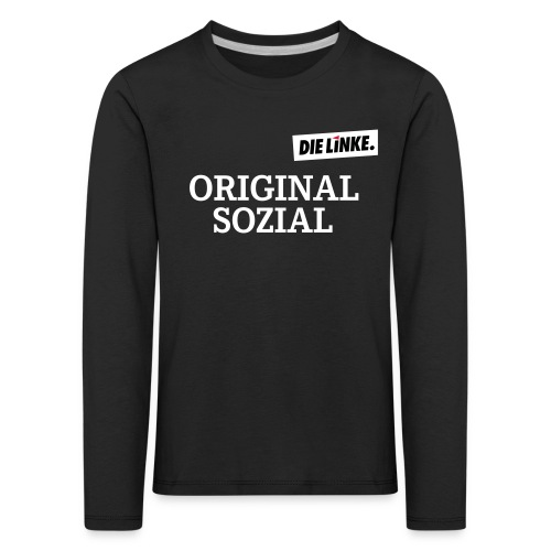 Schriftzug_original - Kinder Premium Langarmshirt