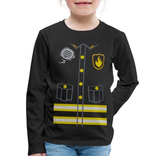 Kids Fireman Costume - Dark edition - Kids' Premium Longsleeve Shirt