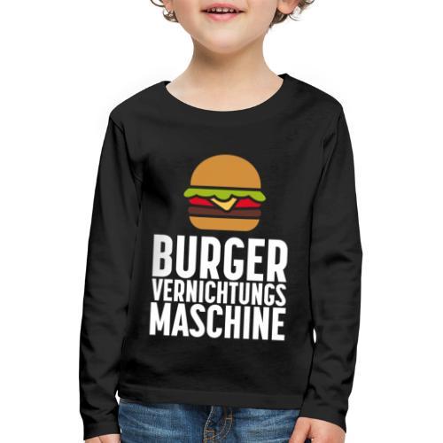 Burger Fanshirt Hamburger Grillen Burgerfreak - Kinder Premium Langarmshirt