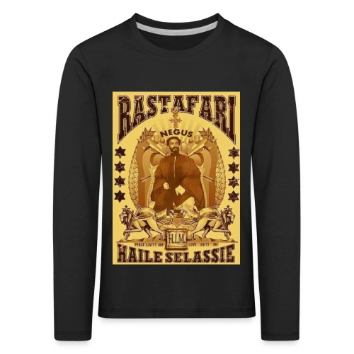 Rastafari Haile Selassie Reggae Roots JahBless - Kinder Premium Langarmshirt